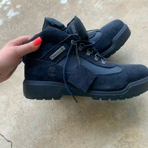 Timberland field boot Navy Blue Suede Men's 10.5